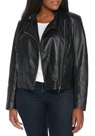 michael kors leather moto jacket black gold women s clothing blazers