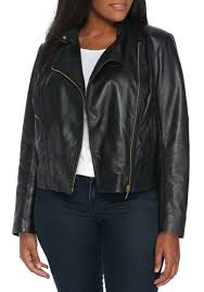 michael kors leather moto jacket black gold women s clothing blazers new s michael