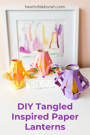make your own paper lanterns in minutes