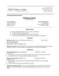 Resume Writing For High School Students No Work Experience Student