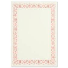Blank Certificate Paper Ebay