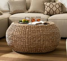 round woven coffee table pottery barn best gallery of tables