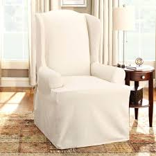 sure fit home s cotton duck wing chair slipcover the mine dining room arm slip covers