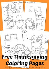 Small Picture Free Printable Thanksgiving Coloring Pages Meet Penny