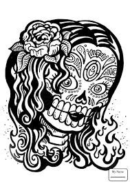 Sugar Skull arts culture sugar skulls coloring pages for kids ...
