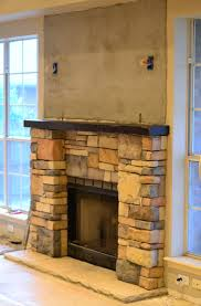 fireplace stone cement screen