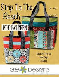 6 Beach-Themed Quilts for Fun in the Sun & Save strip to the beach bag pattern Adamdwight.com