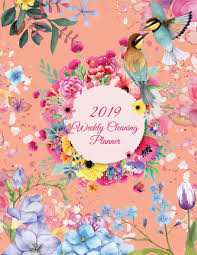 Cleaning Chart Checklist 2019 Weekly Cleaning Planner Cute Flowers Colorful 2019