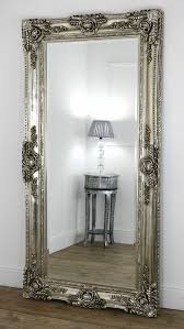 tall standing mirrors. Unique Tall Tall Floor Standing Mirror Amazing Ornate Free Cheval Elise Grey Range 50cm  X With Regard To 8  In Mirrors