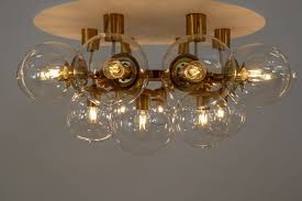 large vintage chandelier with 20 hand blown glass globes 8 sek 92 377 00