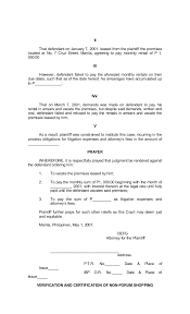 Sample Civil Complaint Form Inspiration Legal Forms Of Philippines
