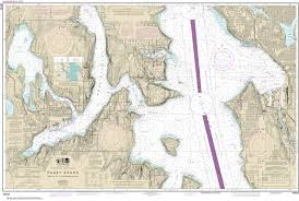 18449 Puget Sound Seattle To Bremerton Nautical Chart