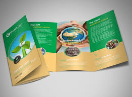 tri fold brochures recycling brochure template mycreativeshop