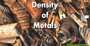 Density Of Metals The Engineering Mindset