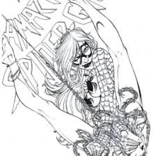 Small Picture Spider Woman Coloring Page Kids Drawing And Coloring Pages