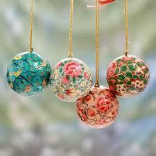 Hand Decorated Christmas Balls Kashmiri Hand Painted Christmas Ornaments Hand Painted Christmas 1