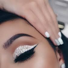 unled silver glitter eye makeup glitter wedding nails white eye makeup eyeshadow with
