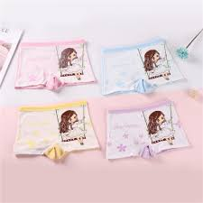 4 IN <b>1</b>   4 <b>Pieces</b>/<b>Lot</b> Girl <b>Panties</b> Cute Cartoon <b>Kid Underwear</b> Soft ...