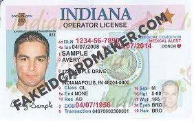 Drivers Maker Card Virtual Fake License - Indiana Id