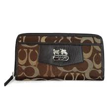 Coach Fashion! Love Coach Logo Signature Large Coffee Wallets EEO, And You  Just Should Take Them With You.