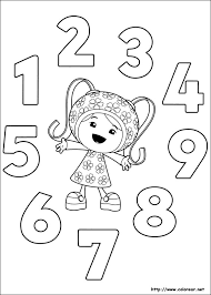 Team Umizoomi Coloring Pages 24 Colors Of Pictures