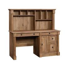 palladia vintage oak computer desk with hutch