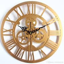 whole modern home decor large wall clock 3d retro clock europe style gear wall clock art watch copper kitchen wall clock copper wall clock from