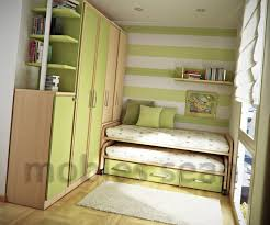 ... Bedroom Stripes Accent Walls And Multipurpose Bedroom Furniture For Small  Spaces With Area Rug Also Wood ...