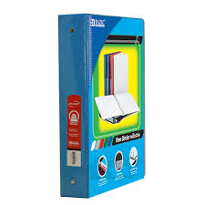 1 5 Binder Bazic Products 1 5 In 3 Ring View Binder With 2 Pockets Cyan Case Of 12