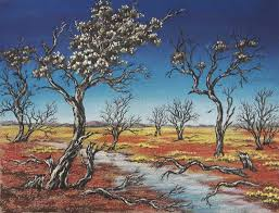 central australian outback scene pastel painting by sian butler