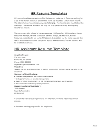 Human Resources Assistant Resume Examples Hr Assistant Resume Sample Doc