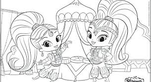 Ballerina Coloring Pages Shimmer And Shine Hd Wallpapers