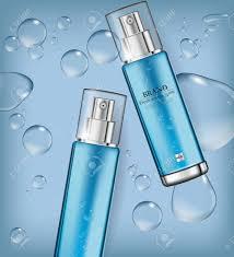 Spray Bottle Label Design Cosmetics Spray Water Moisturizer Hydration Vector Realistic