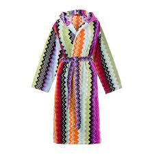 buy missoni home giacomo hooded bathrobe    amara