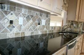 black granite countertops with tile backsplash. Granite Countertops And Tile Backsplash Ideas Eclectic-kitchen Black With F