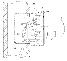 Patent us6362987 wall mounted electrical outlet receptacle for
