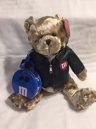 details about galerie m m s leather jacket teddy bear 12 plush new with tags 2003