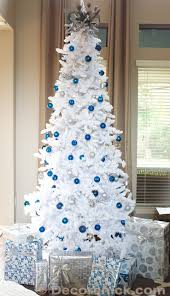 Outstanding White Christmas Tree With Blue Decorations 11 For Interior  Design Ideas with White Christmas Tree With Blue Decorations