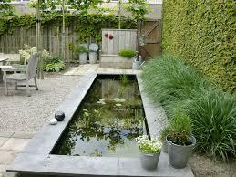 Rechthoekige vijver in landelijke tuin - Rectangle pond in country garden   Fonteyn
