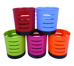 Kitchen Tidy High Quality Plastic Cutlery Drainer Caddy Pot Holder Sink Tidy In