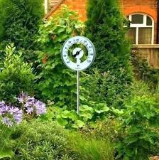 decorative outdoor thermometer garden thermometers canada