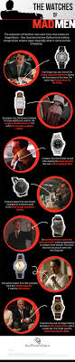 the watches of mad men infographic buy watch winders blog the watches of mad men infographic