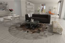 patchwork cowhide rug contemporary