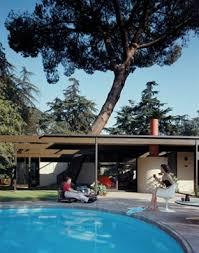 The Return of Eames and Saarinen s Case Study House No      Case     Pinterest Case Study House door sculpture california modernism canal