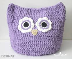 Owl Pillow Pattern Bernat Oversized Owl Pillow To Crochetcrochet Pattern