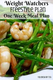 print our weight watchers freestyle plan one week menu plan to help you get off to