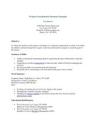Project Coordinator Resume Keywords Project Coordinator Sample
