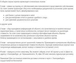 Оценка недвижимости в Екатеринбурге и Свердловской области Этапы оценки недвижимости