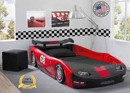 details about kids bed twin car toddler bedroom furniture race children turbo delta gift usa