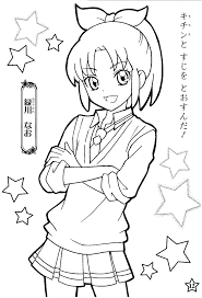 Cute Chibi Coloring Pages For Kids Free Printable Cute Anime